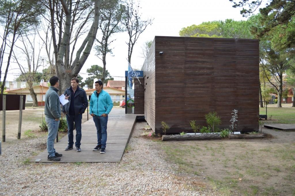 El Intendente Costero visitó la Unidad de Gestión de Lucila del Mar, Aguas Verdes y Costa Azul