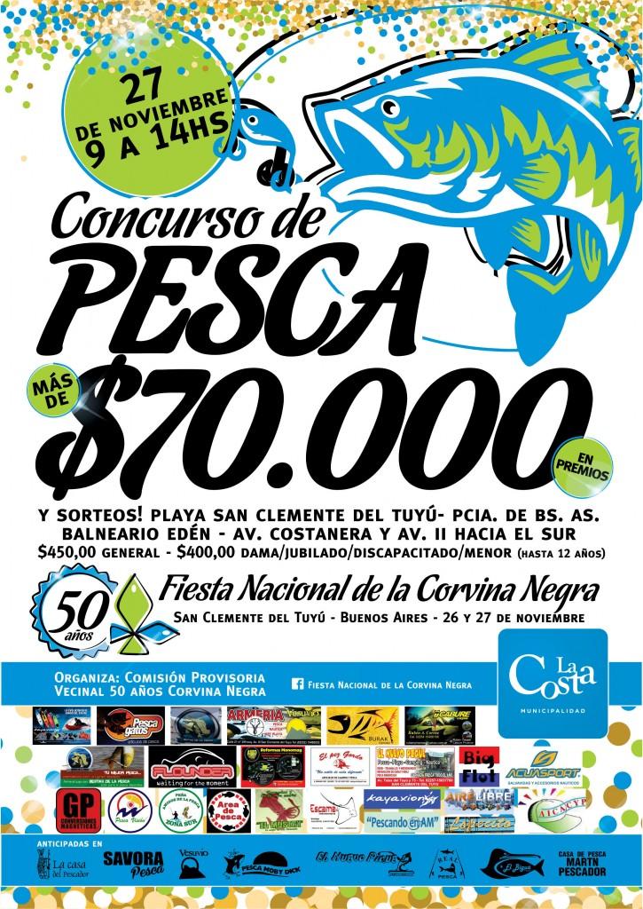 Concurso de Pesca de la 50ª edición de la Fiesta Nacional de la Corvina Negra