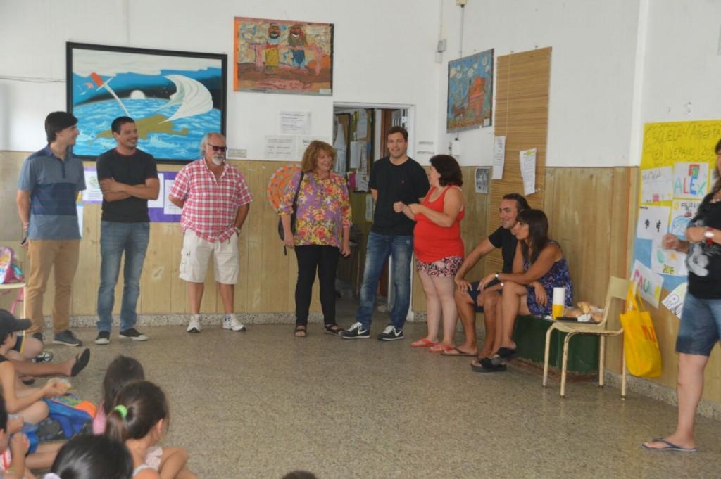 El Intendente costero visitó obras que la Municipalidad realiza en los establecimientos educativos
