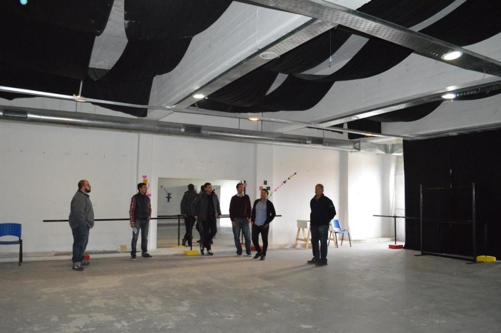El Intendente Costero recorrió la obra de ampliación del Centro Cultural de San Bernardo