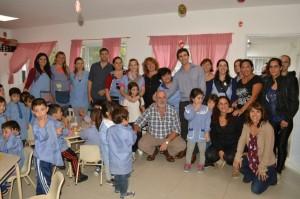 Juan Pablo De Jesus visitó las obras culminadas en el Jardín de Infantes Nº 912 de Santa Teresita