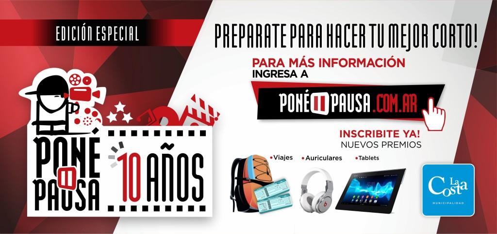 Continúa abierta la inscripción al concurso de cortos Poné Pausa