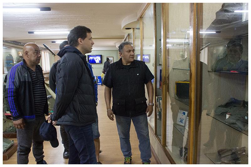 El Intendente Costero, visitó la Casa de Veteranos de Malvinas de La Costa