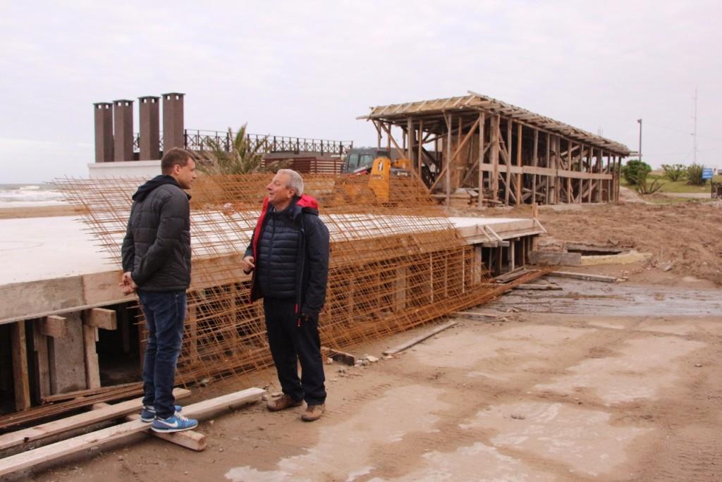 El Intendente Costero recorrió obras en zona sur