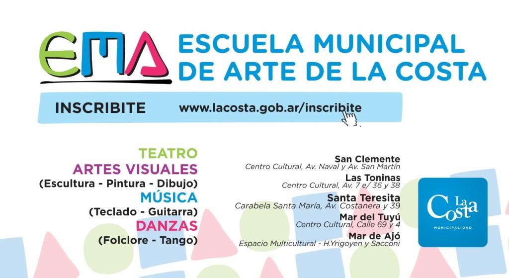 La Escuela Municipal de Arte continúa con la inscripción online para el ciclo lectivo 2018