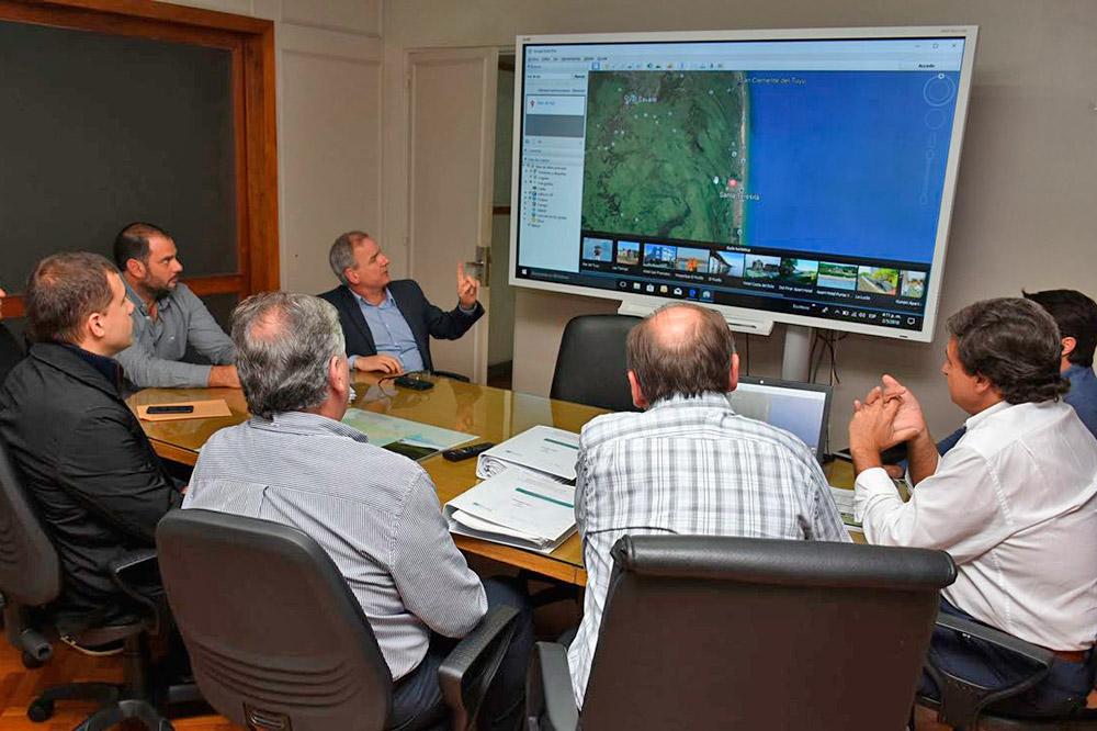 El Intendente Costero, se reunió con el subsecretario de Infraestructura Hidráulica de la Provincia