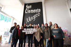 Juan Pablo visitó la flamante sede de San Clemente Mágico