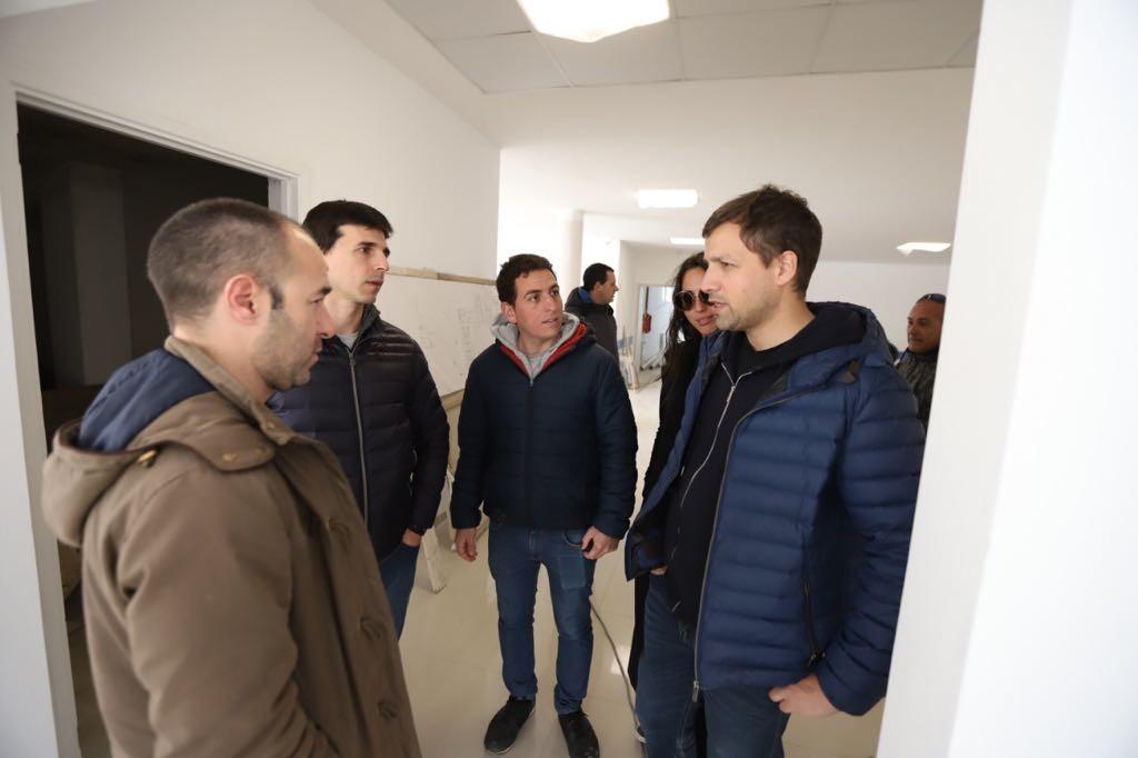 El intendente Costero, recorrió la obra del Hospital de Santa Teresita que ya está en su tramo final