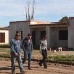 CASTELLI: VERIFICAN EL AVANCE DE LA CONSTRUCCIÓN DEL BARRIO DE POLICIA