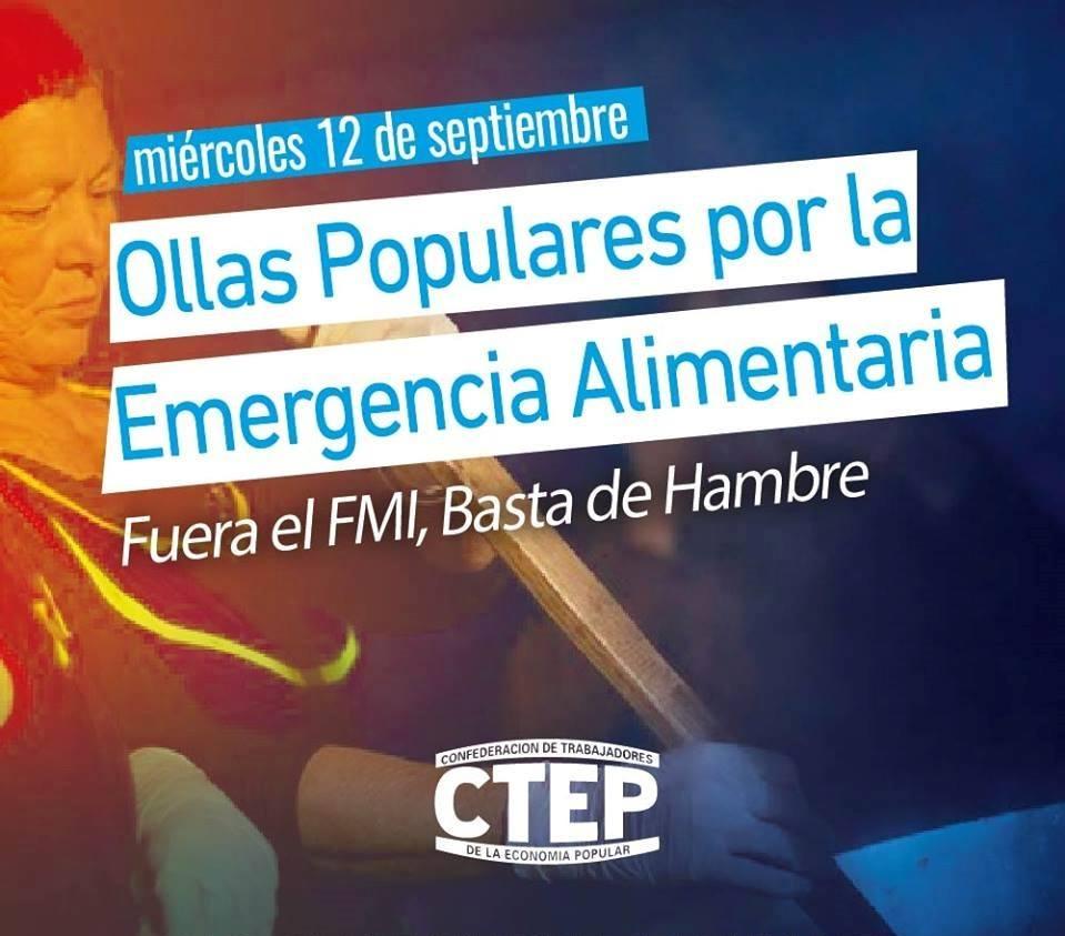 La CTEP realizará 14 ollas populares por la Emergencia Alimentaria