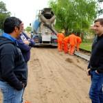 El intendente de la Costa recorrió la obra de pavimentación y cordón cuneta entre Mar de Ajó yNueva Atlantis