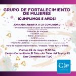 Actividades para celebrar el aniversario del grupo de fortalecimiento de mujeres