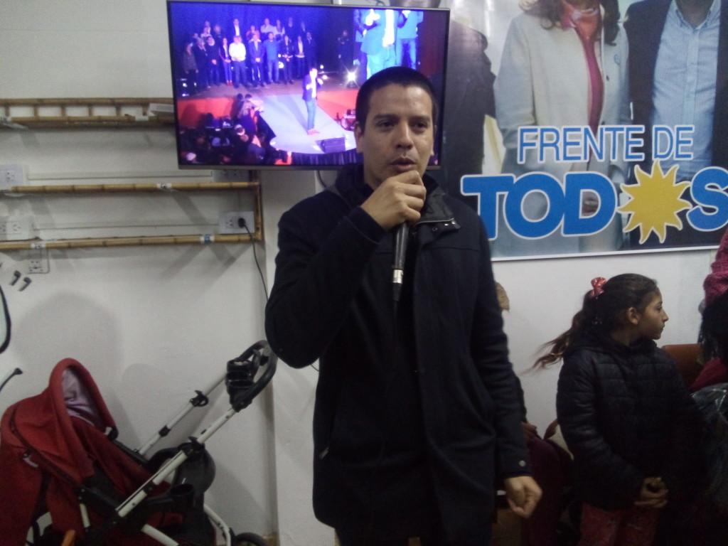 Cristian Cardozo,anuncio obras en San Clemente