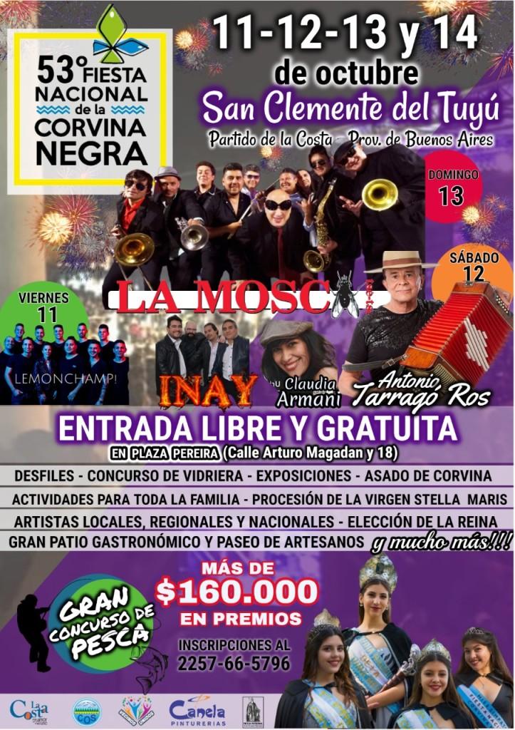 San Clemente ya palpita la 53ª edición de la Fiesta Nacional de la Corvina Negra