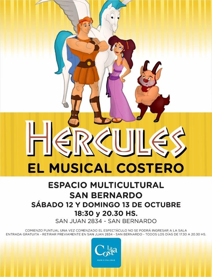Se presentará Hércules, un musical producido y protagonizado por alumnos y profesores