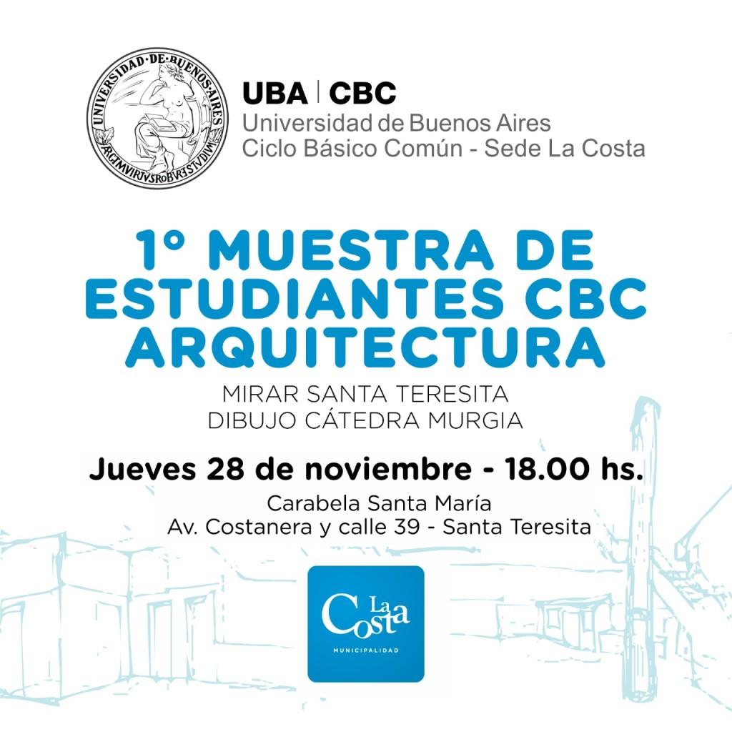 Alumnos del CBC de Arquitectura de La Costa exponen sus trabajos en la Carabela de Santa Teresita