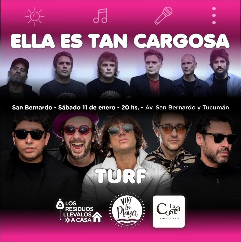 Ella es Tan Cargosa y Turf inauguran el ciclo de recitales La Costa Tour