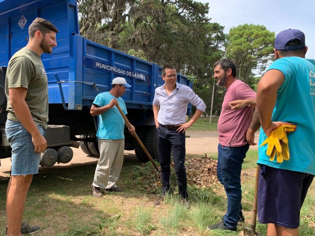Cristian recorrió trabajos que se realizan en Costa del Este