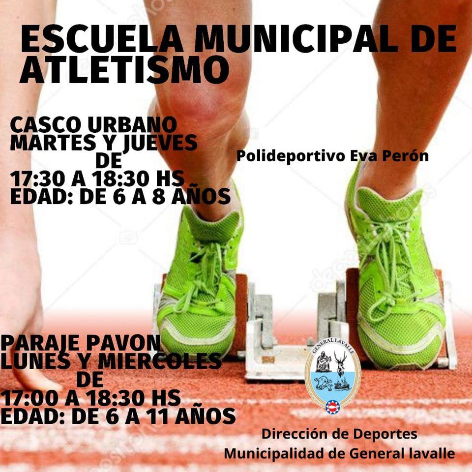 Hoy a las 17, habrá Atletismo Infantil en Pavón