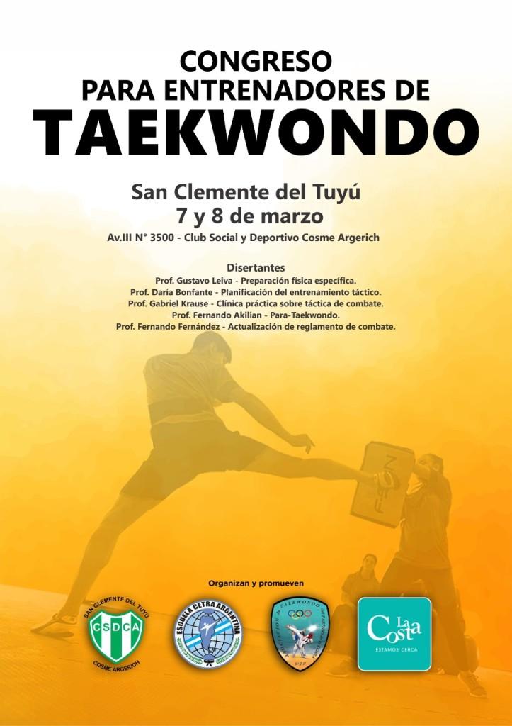 Este fin de semana La Costa será sede de un Congreso Internacional de Taekwondo