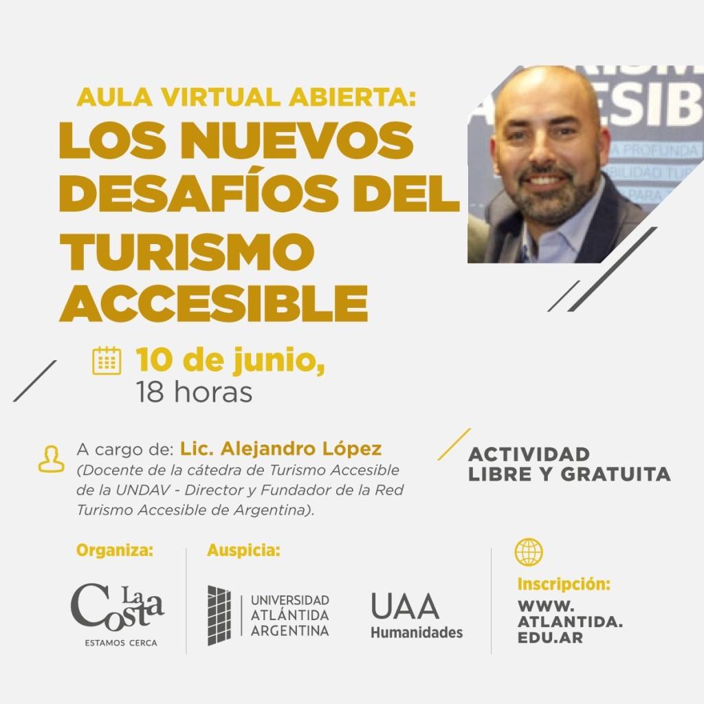 LA COSTA: hoy se realizará una charla virtual sobre desafíos del turismo accesible