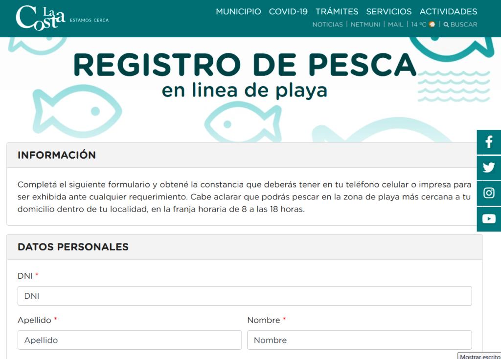 Previa descarga de un registro y cumpliendo el protocolo correspondiente, se autoriza la pesca tradicional