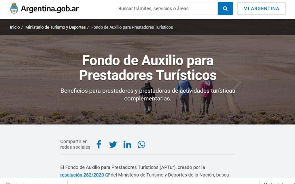 El Gobierno lanzó un fondo de Auxilio para Prestadores Turísticos, las famosas ATP