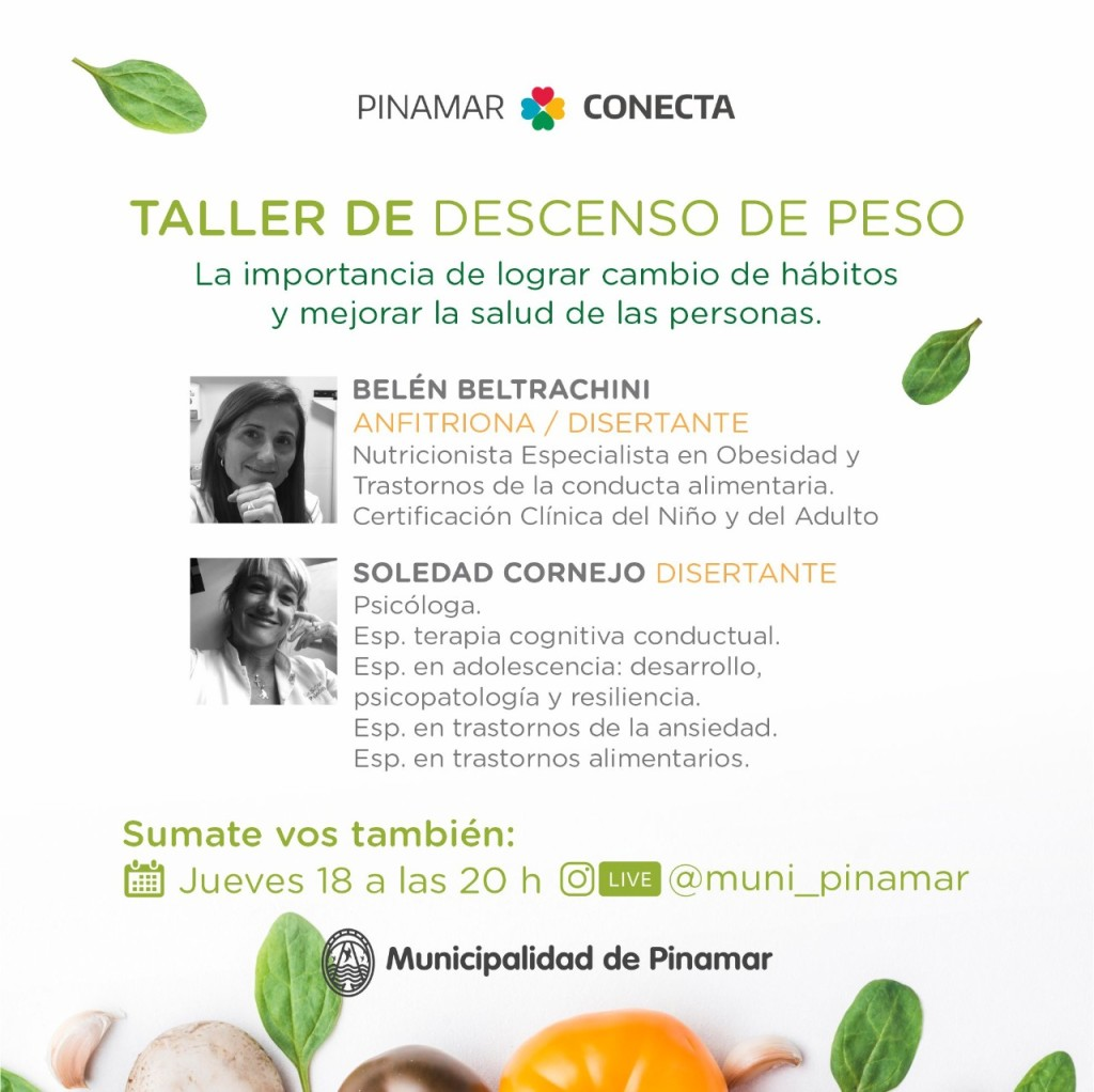 PINAMAR: TALLER DE DESCENSO DE PESO EN VIVO