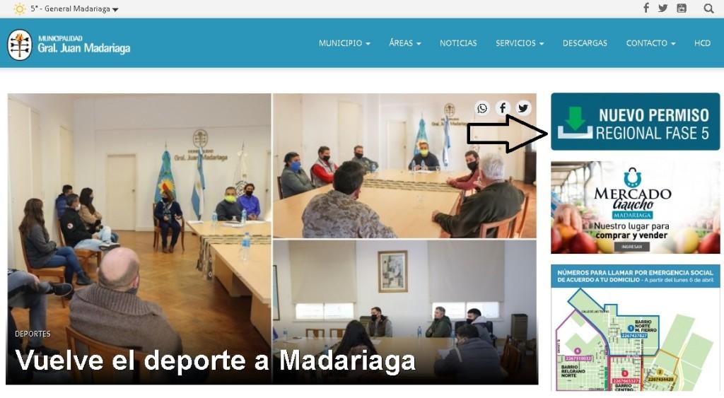 GENERAL MADARIAGA: ¿Cómo tramito el nuevo permiso regional: Fase 5?