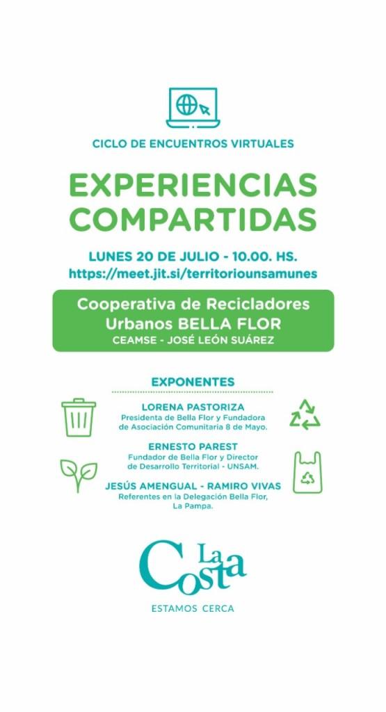 """Se realizará un encuentro virtual con la cooperativa de recicladores urbanos """"Bella flor"""""""