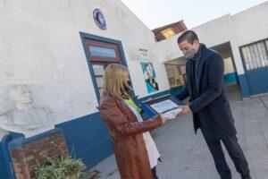 El intendente Costero,visito la escuela 1 de san Clemente en sus 80 años