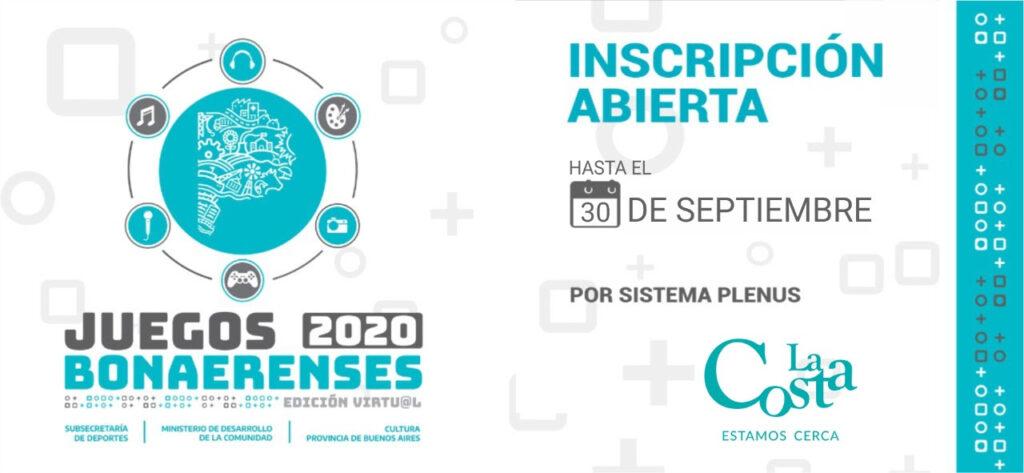Con más de 300 anotados, continúa abierta la inscripción para la edición virtual de los Juegos Bonaerenses 2020