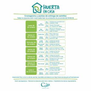 Con inscripción previa se realizará la entrega del kit de semillas del programa municipal Huerta en Casa