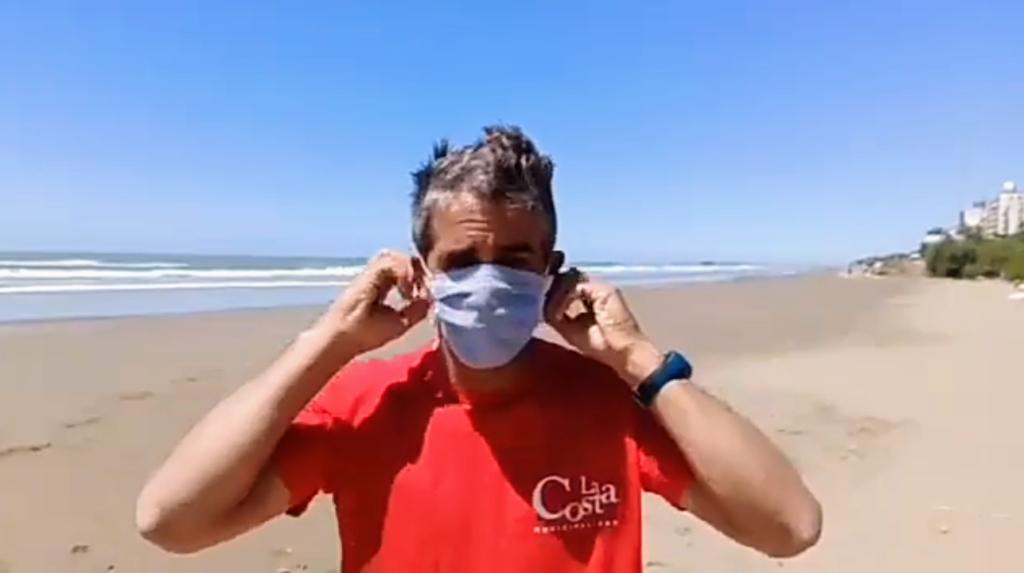 Los Guardavidas de la costa dejaron un mensaje a la comunidad(video)