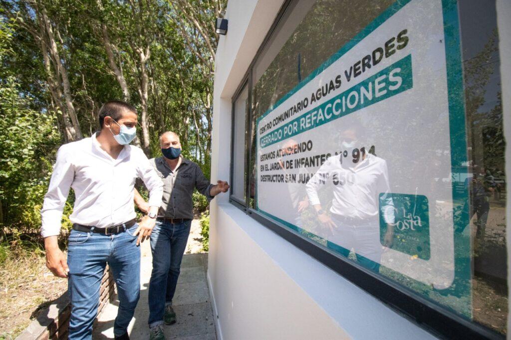Cristian visitó el renovado Centro de Atención Primaria de la Salud de Aguas Verdes que será inaugurado en los próximos días
