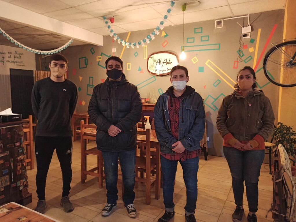 """Martín Poustis visitó el resto-bar cultural """"Al Andar"""""""
