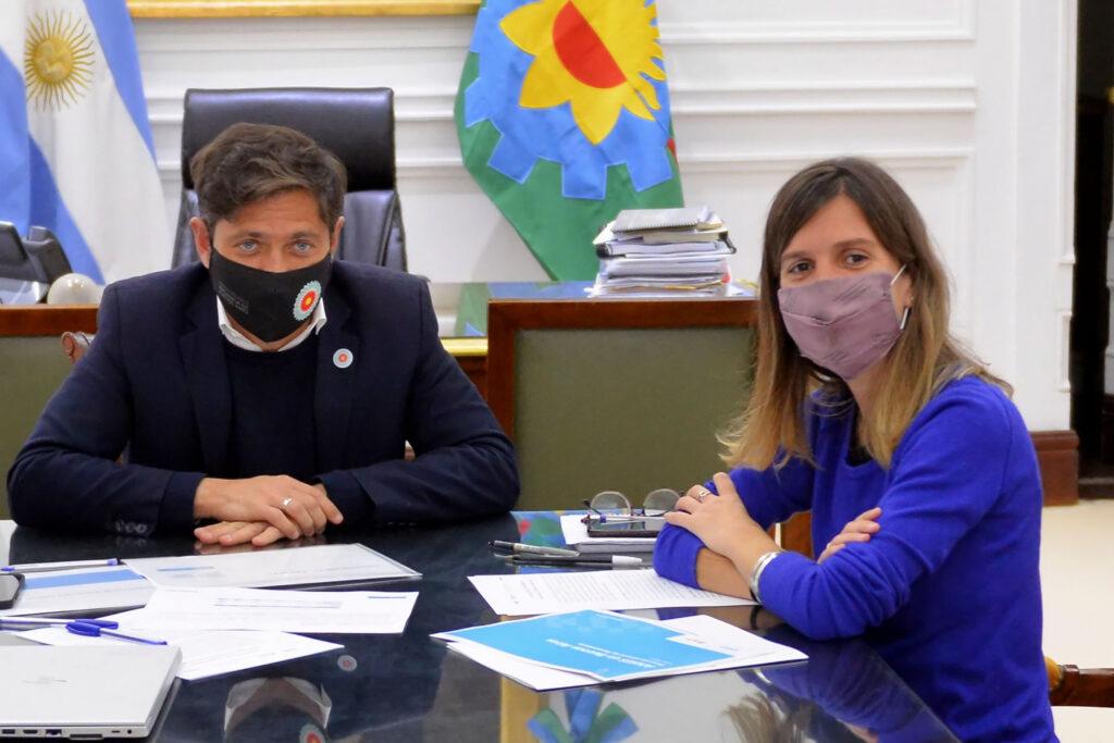 RAVERTA Y KICILLOF SE REUNIERON PARA ANALIZAR EL AVANCE DEL RECONOCIMIENTO DE APORTES POR TAREAS DE CUIDADO